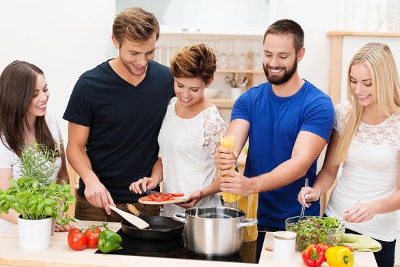 Junge Leute kochen gerne!